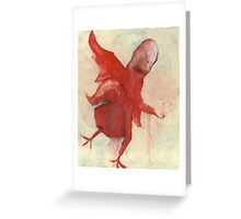 Little Red Chick Greeting Card