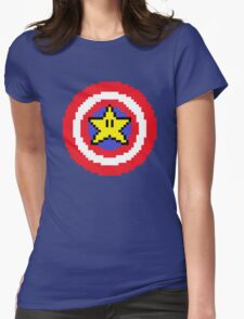 Captain pixel Womens Fitted T-Shirt