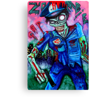 Zombie Cop (Horror Comics, Zombies) Canvas Print