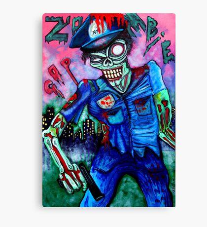 Zombie Cop (Horror Comics, Zombies) Canvas Print