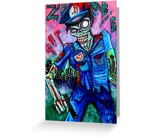 Zombie Cop (Horror Comics, Zombies) Greeting Card