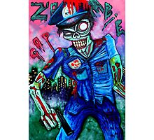 Zombie Cop (Horror Comics, Zombies) Photographic Print
