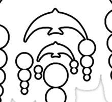 Parvata - Veritas Merch (Crop Circle Jellyfish 11) Sticker