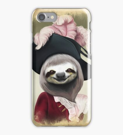 Aristocratic Lady Sloth Oil Painting Style Portrait iPhone Case/Skin