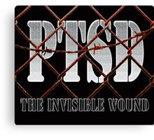 PTSD - The Invisible Wound Canvas Print