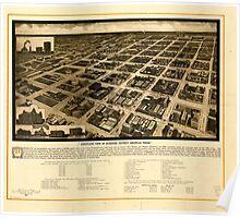 Panoramic Maps Aeroplane view of business district Amarillo Texas Poster