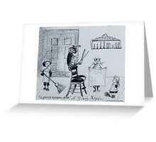 Quirky Christmas Card from the 1870s Greeting Card