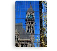 Distorted time reflected-Toronto Canvas Print