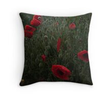 Eerie Poppies Throw Pillow