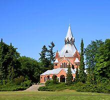 Grand Chapel in a Central Cemetery in Szczecin, Poland by Teresa Zieba