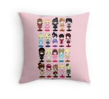Guide to All Lolita Styles Throw Pillow