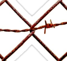 Chain Link & Barbed Wire Sticker