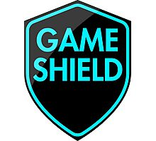 Game Shield (blue) Photographic Print