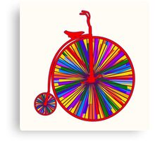 Penny-Farthing Bicycle with Kaleidoscope Wheels Canvas Print