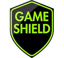 Game Shield (green) Photographic Print