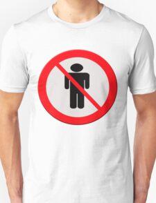 No men sign T-Shirt