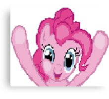 Pinkie Pie Pixel Brony Pegasister My Little Pony Canvas Print