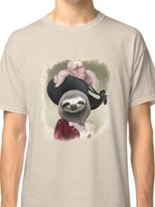 Aristocratic Lady Sloth Oil Painting Style Portrait Classic T-Shirt