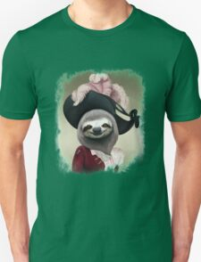 Aristocratic Lady Sloth Oil Painting Style Portrait Unisex T-Shirt