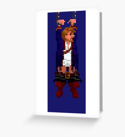 Guybrush hanging (Monkey Island 2) Greeting Card
