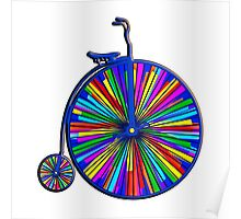 Penny-Farthing Bicycle with Kaleidoscope Wheels Poster
