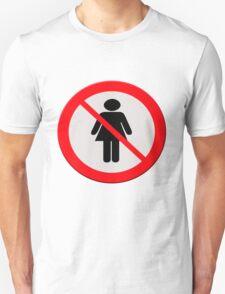 No women sign T-Shirt