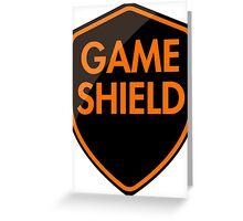 Game Shield (orange) Greeting Card