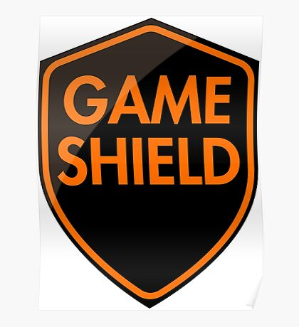 Game Shield (orange) Poster