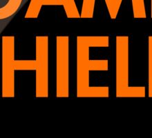 Game Shield (orange) Sticker