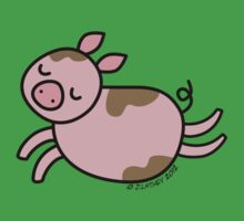 Leaping Pig by zoel