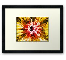 Extrusion Abstract Red Orange Yellow Framed Print