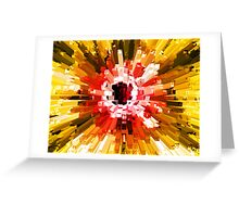 Extrusion Abstract Red Orange Yellow Greeting Card