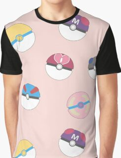 Cute Poke Balls Graphic T-Shirt