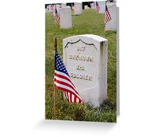 Unknown Hero on Memorial Day Greeting Card