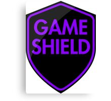 Game Shield (purple) Canvas Print