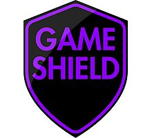 Game Shield (purple) Photographic Print