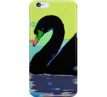 Wild nature - black swan iPhone Case/Skin