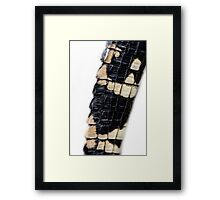 Guess who's tail this is?! Framed Print