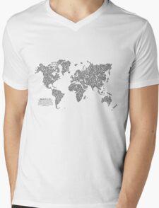Bike Atlas Black Mens V-Neck T-Shirt