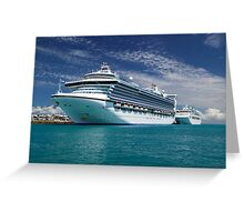 Cruise Ships moored at Dockyard Greeting Card