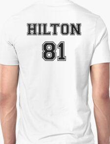 Paris Hilton 'HILTON 81' Sportive / Football Jersey Look T-Shirt
