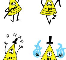 Bill Cipher Sticker Set by AMorphineToast