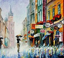 SUMMER DOWNPOUR - OIL PAINTING BY LEONID AFREMOV by Leonid  Afremov