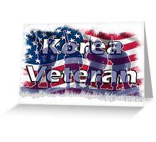 Korea Vetreran Greeting Card
