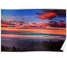Valley Fog at Sunrise 2 Poster