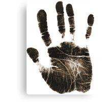 Human handprint Canvas Print