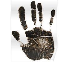 Human handprint Poster