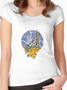 Orchid 1 Women's Fitted Scoop T-Shirt