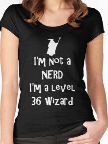 Not a nerd Women's Fitted Scoop T-Shirt