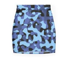 Sky Blue Camouflage Mini Skirt